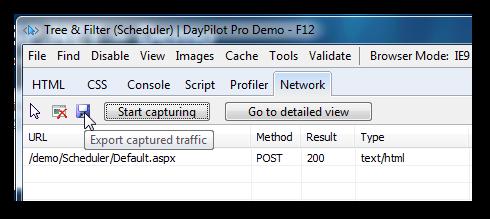 ie network export